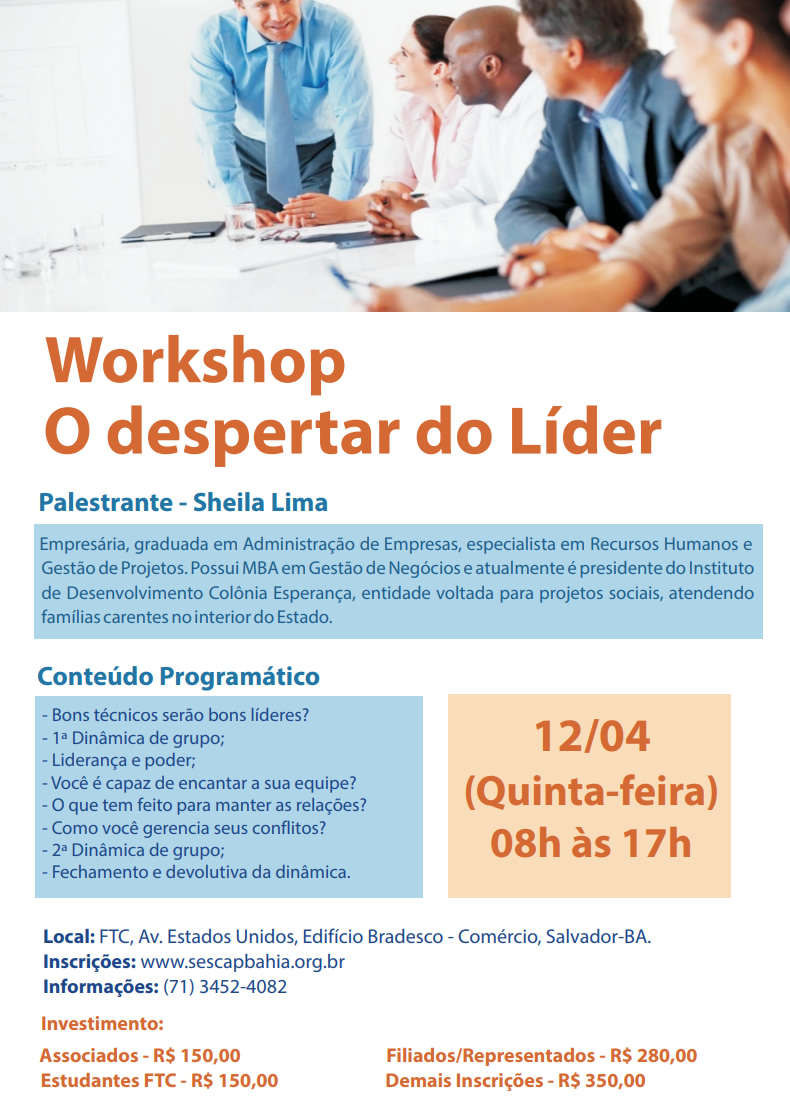 Cartaz - Workshop Liderança